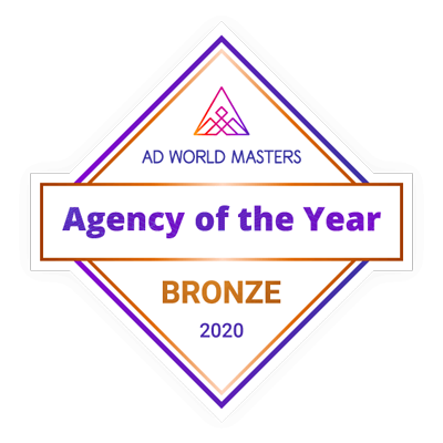 Agency of The Year 2020. Bronze by Ad World Masters